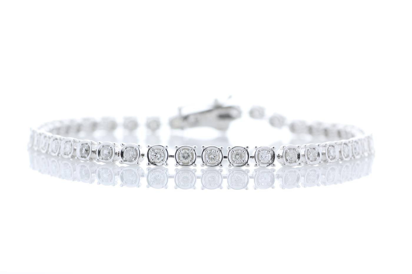 18ct White Gold Tennis Diamond Bracelet 1.50 Carats