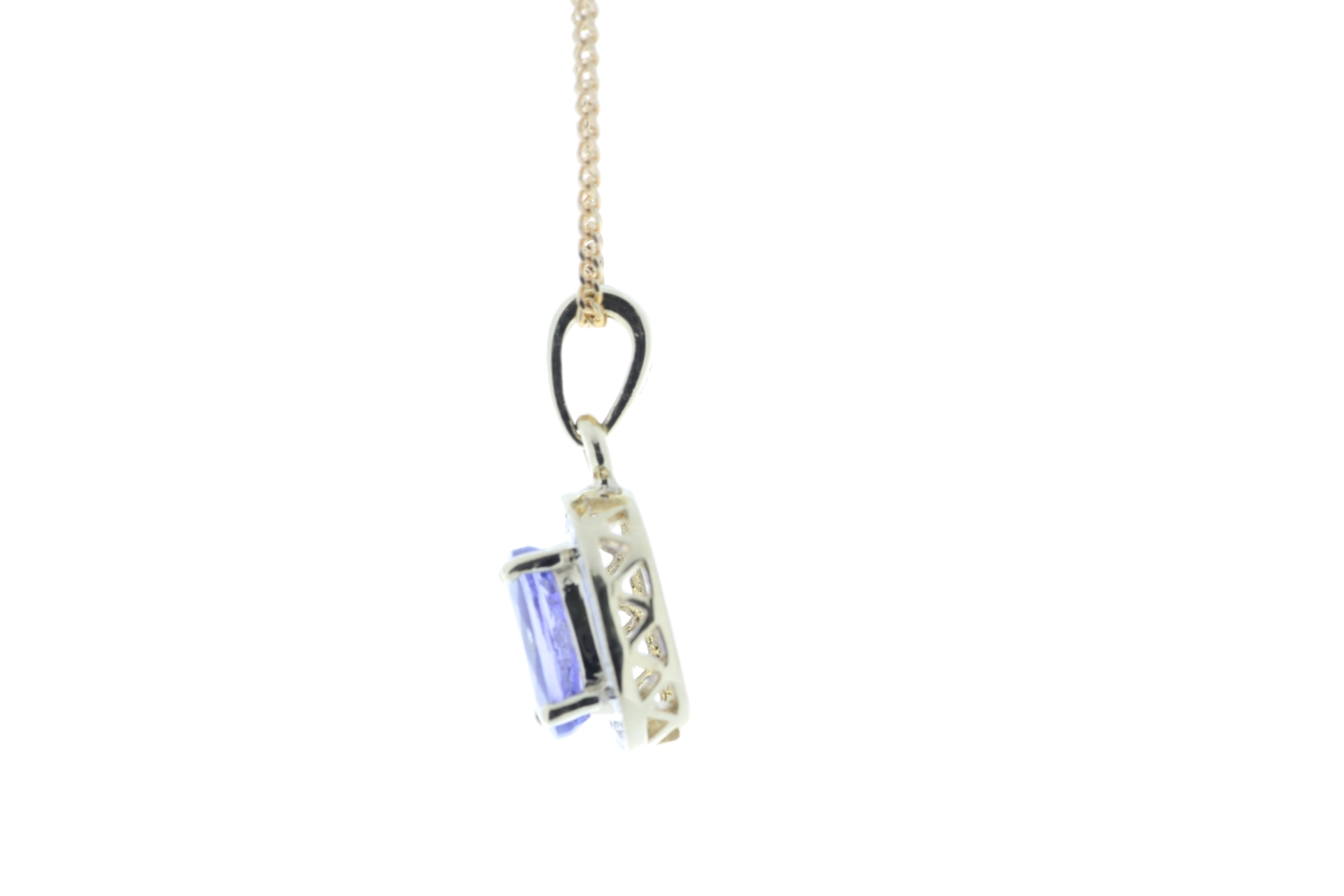 9ct Yellow Gold Diamond And Tanzanite Pendant - Image 4 of 5