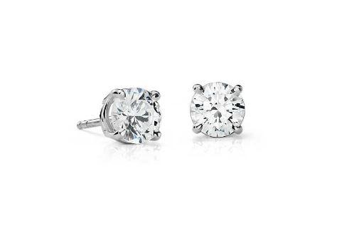 Lot 40 - 18ct White Gold Prong Set Diamond Earrings 1.00 Carats