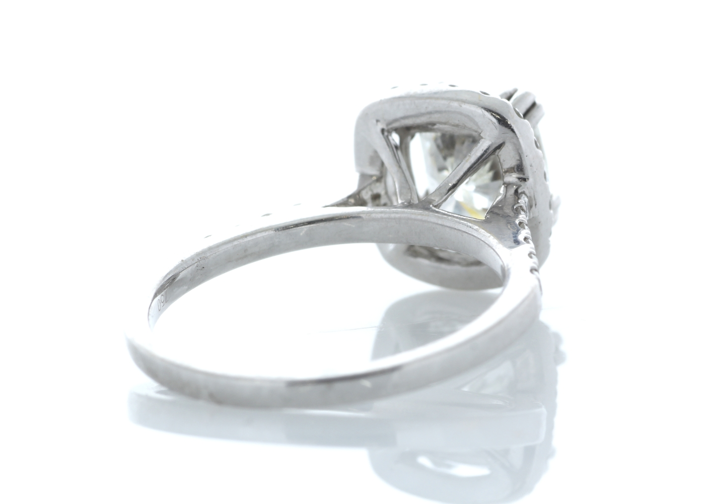 18ct White Gold Halo Set Ring 2.63 Carats - Image 3 of 4