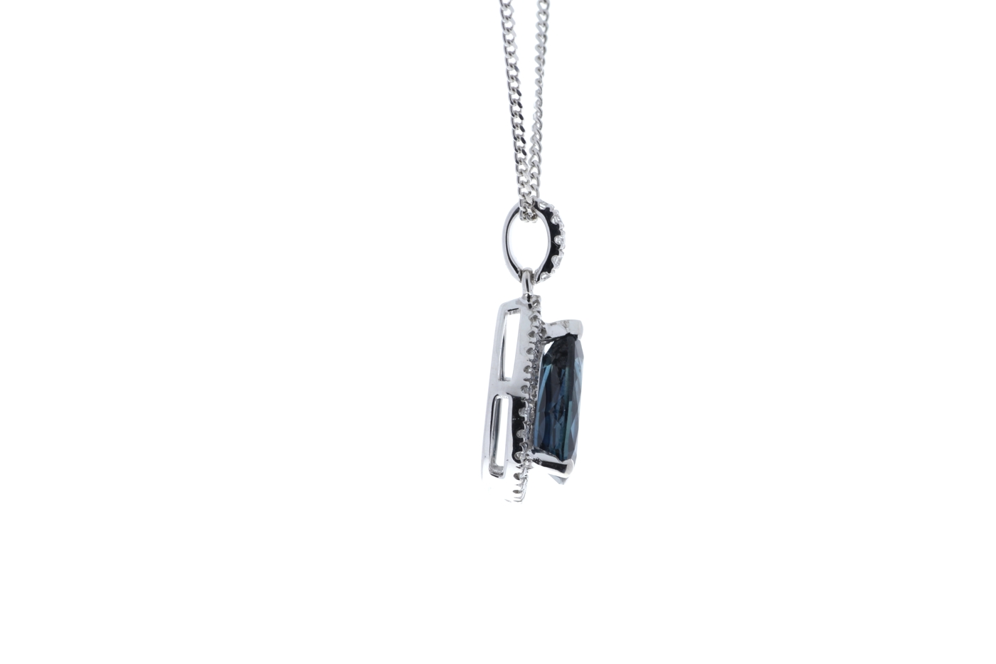 18ct White Gold Diamond And Sapphire Pendant 2.35 Carats - Image 2 of 4