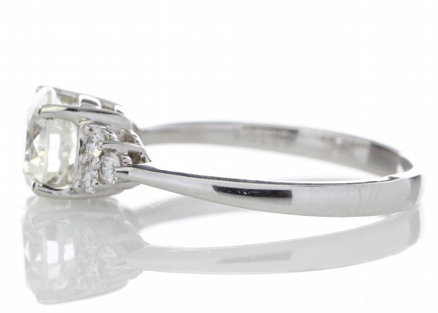18ct White Gold Heart Shape Diamond Ring 1.29 Carats - Image 3 of 5