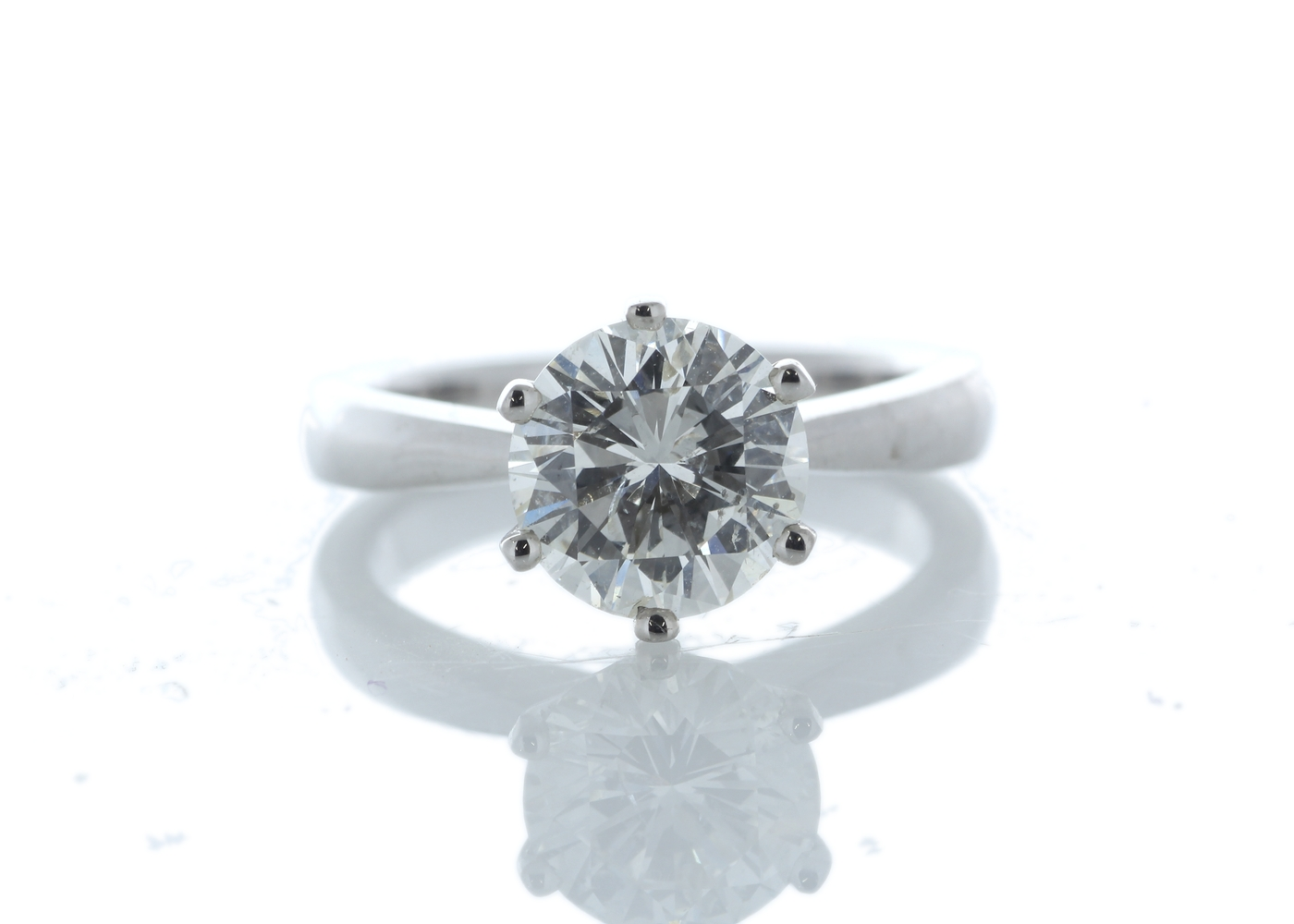 Lot 15 - 18ct White Gold Prong Set Diamond Ring 2.35 Carats