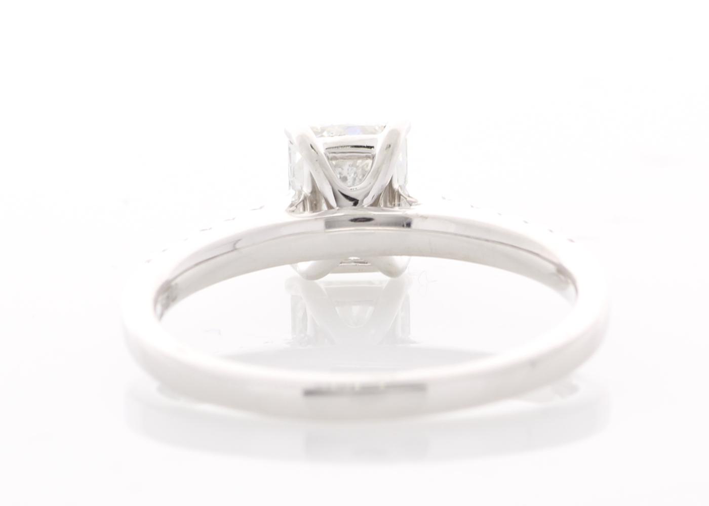 Platinum Stone Set Shoulders Diamond Ring 1.07 Carats - Image 3 of 5