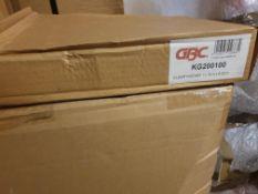 "56 X Boxes Gbc Clear Pockets 11.75"" X 8.25"""