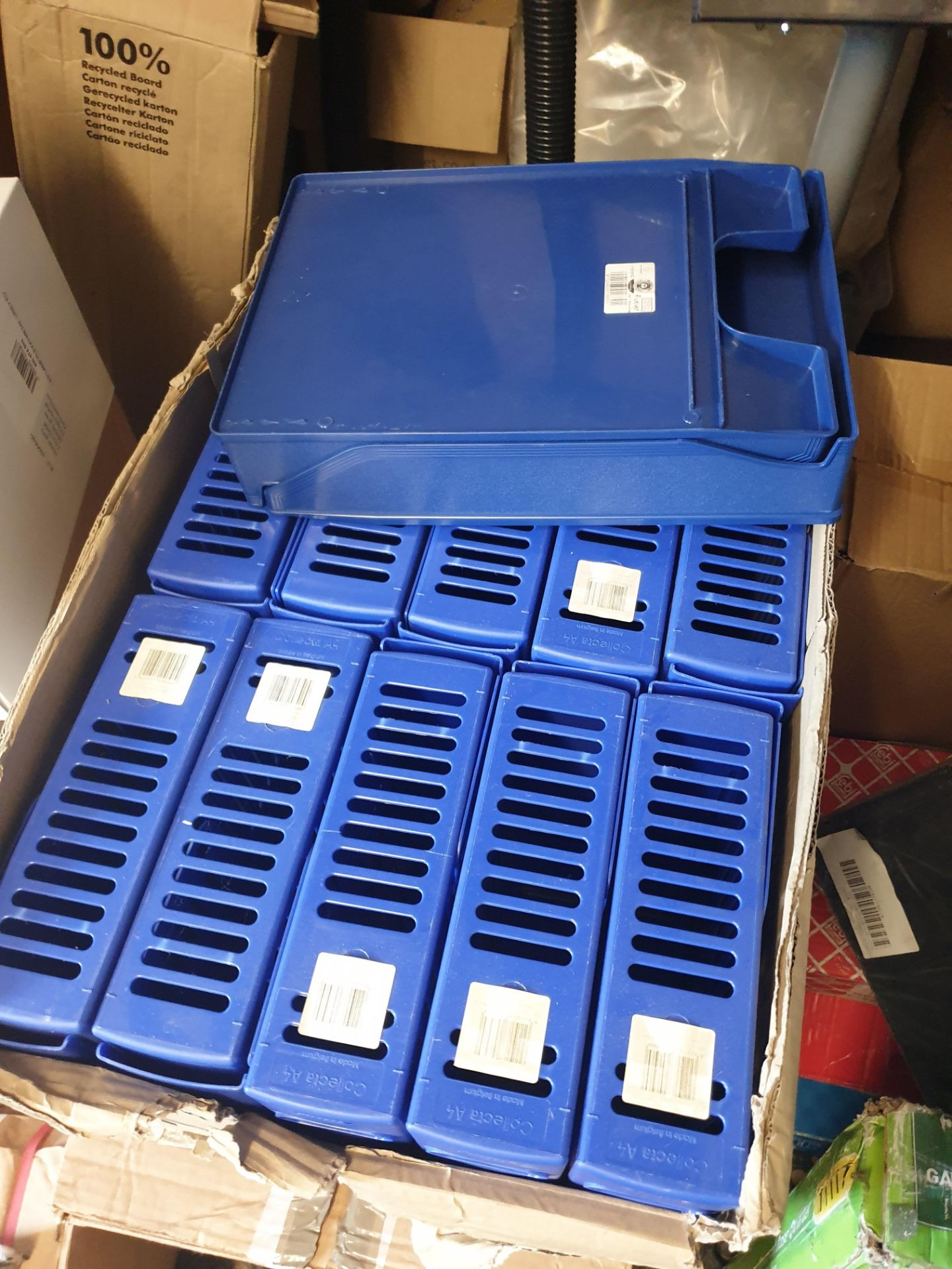 Lot 8 - Approx 600 Ring Binders. Lever Arch Files. Magazine Files And Letter Trays,