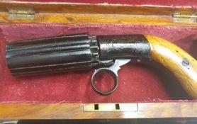 Coopers Pepper Box Pistol In Box