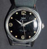 Hmt Military Black Dial Watch