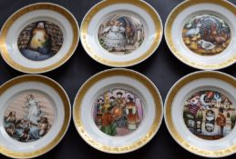 Set Of 12 Hans Christian Anderson Fairytale Plates