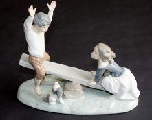 Lladro See-Saw Figures
