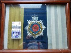 Framed Er 2Nd Royal Army Service Corps Flag