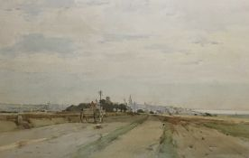 ROBERT EADIE RSW (SCOTTISH 1877 - 1954), The Road Home, signed watercolour