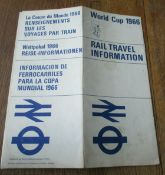 Original World Cup 1966 item issued in connection with London Tubes & Trains