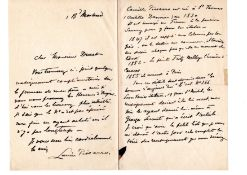 Lucien Pissarro French Painter Signed Autograph letter about Camille Pissarro