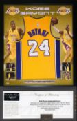 Kobe Bryant Hand Signed & Framed Los Angeles Lakers Jersey with Panini COA