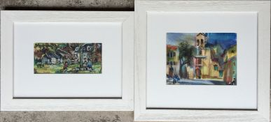 Hamish Laurie Signed Oil Pastel Pair