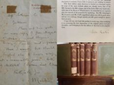John Ruskin Signed Book & Autograph Letter Requesting Book On Mozart (1887)