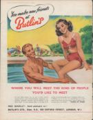 Vintage 1940/1950's Original Butlins Holiday Camp Adverts