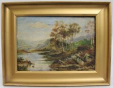 Edwardian British Landscape Oil on Canvas