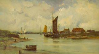Van Helst, 1911. Canal Scene. Oil Painting