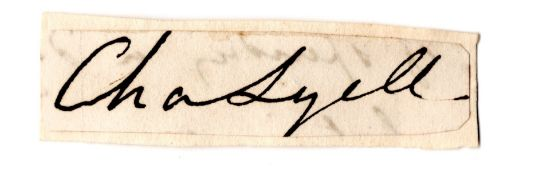 Historical Signed Autograph - Sir Charles Lyell - Geologist