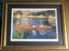 'The Skiff' Framed Edition 115/375 Renoir Art Print