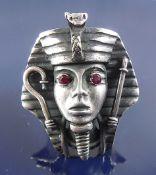 Havy silver ring Pharaoh