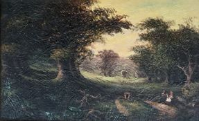 After Sam Bough Cadzow Forest Oil Painting