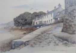 Dorothy Bruce. Ferry Row, Fairlie. Signed Watercolour Painting