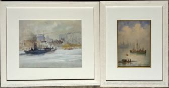 Maritime Scenes Dingwall and The Clyde Pair Watercolours