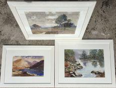 Highland Scene Watercolour Trio (2 signed)