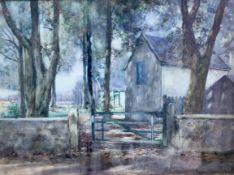 Norman M MacDougall Farmhouse Signed Watercolour