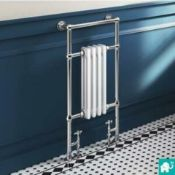 BRAND NEW BOXED 952x479mm Traditional White Slim Towel Rail Radiator - Cambridge. RT31.RRP £3...