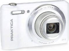 (46) 1 x Grade B - Praktica Luxmedia Z212 Digital Compact Camera - White.Effortlessly detailed ...