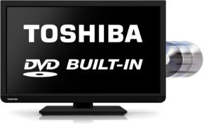(M30) Toshiba 22D1333B 22-inch Widescreen 1080p Full HD LED TV with Built-In DVD Player [Energy...