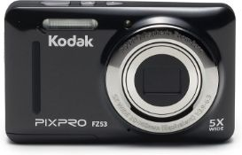 (42) 1 x Grade B - KODAK FZ53 Digital Camera - Black (16 MP, 5xZoom, 28 mm Wide, Li Ion Battery...