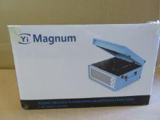 (20) 1 x Grade B - Yi Magnum Retro 60s Record Player, Bluetooth Streaming, CD Player, FM Radio,...