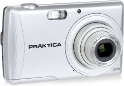 (M38)Praktica Luxmedia Z250 Digital Compact Camera - Silver (20 MP,5x Optical Zoom) Effortlessl...