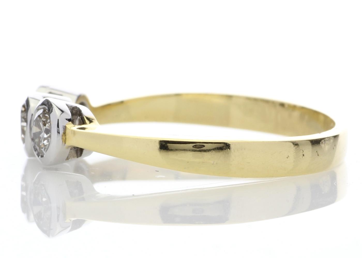18ct Three Stone Claw Set Diamond Ring 0.75 Carats - Image 3 of 4