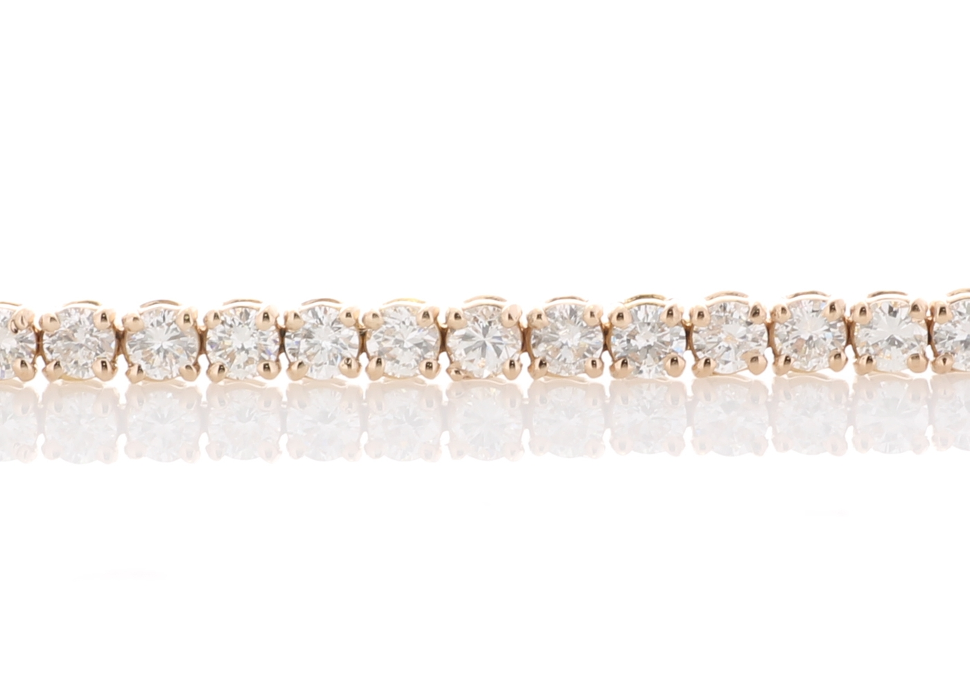 18ct Rose Gold Tennis Diamond Bracelet 4.00 Carats - Image 4 of 4