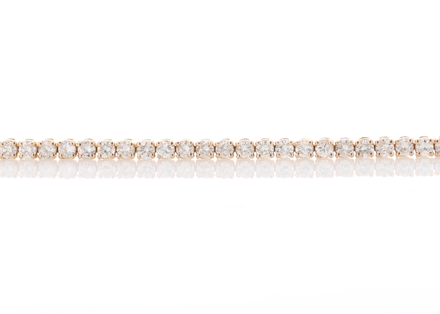 18ct Rose Gold Tennis Diamond Bracelet 4.00 Carats - Image 3 of 4