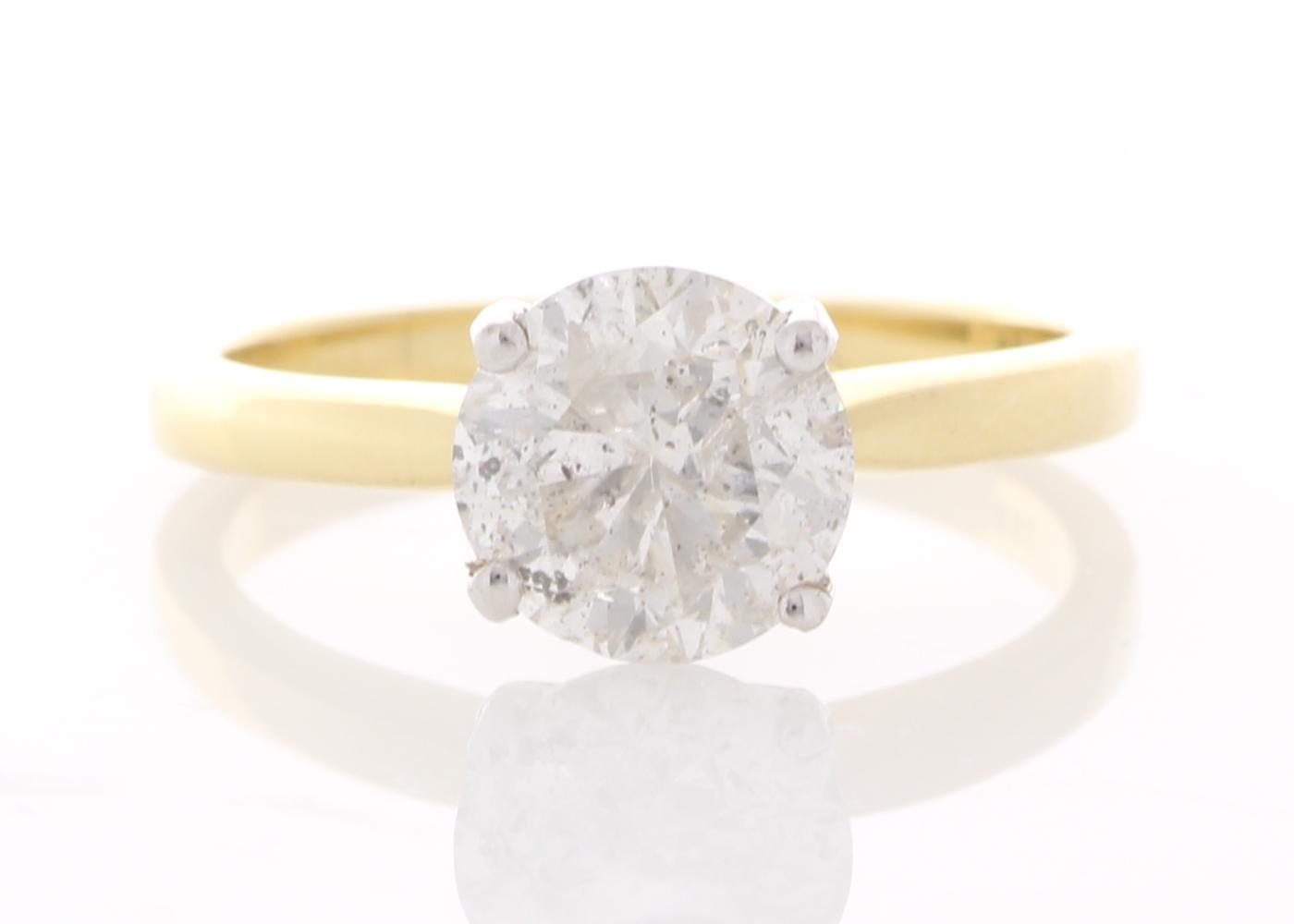 18ct Yellow Gold Single Stone Prong Set Diamond Ring 2.00 Carats