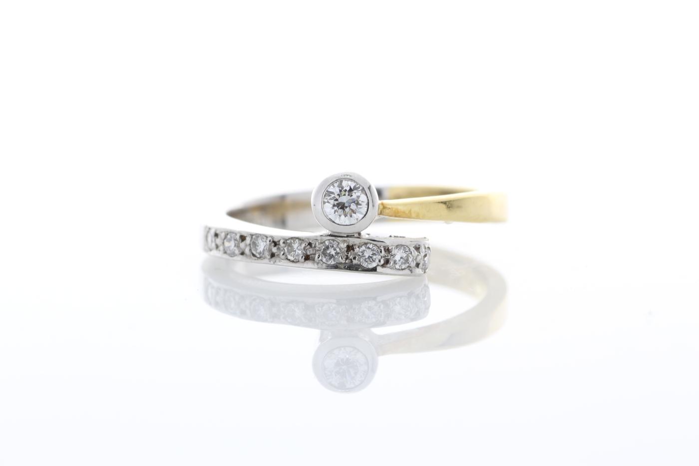 18ct Stone Set Shoulders Diamond Ring 0.11 Carats - Image 5 of 5