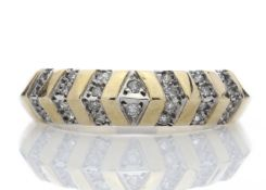 9ct Half Eternity Fancy Diamond Ring 0.21 Carats