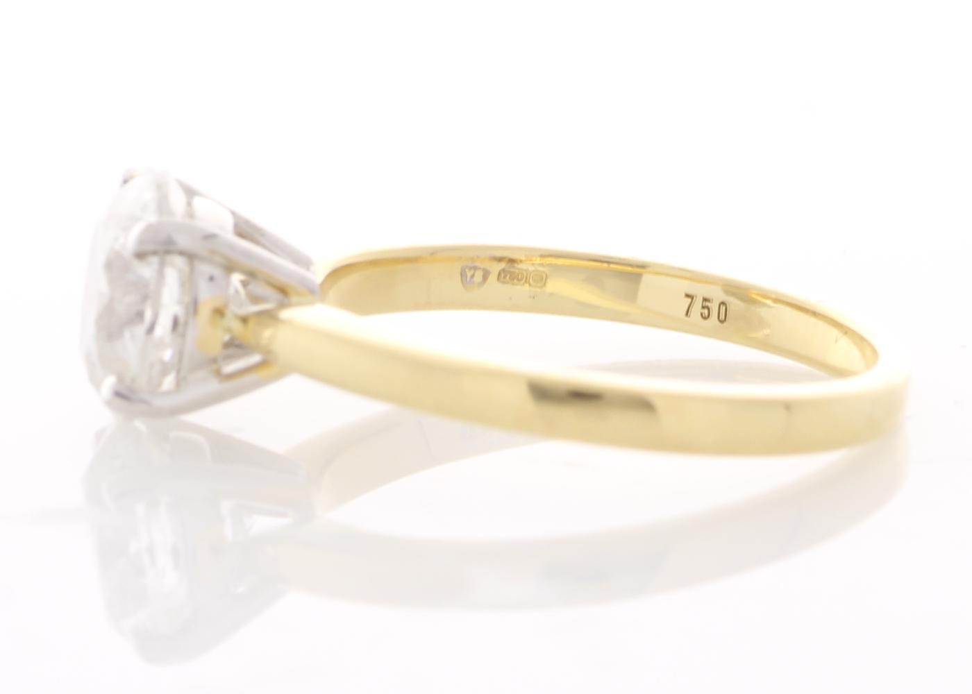 18ct Yellow Gold Single Stone Prong Set Diamond Ring 2.00 Carats - Image 2 of 5