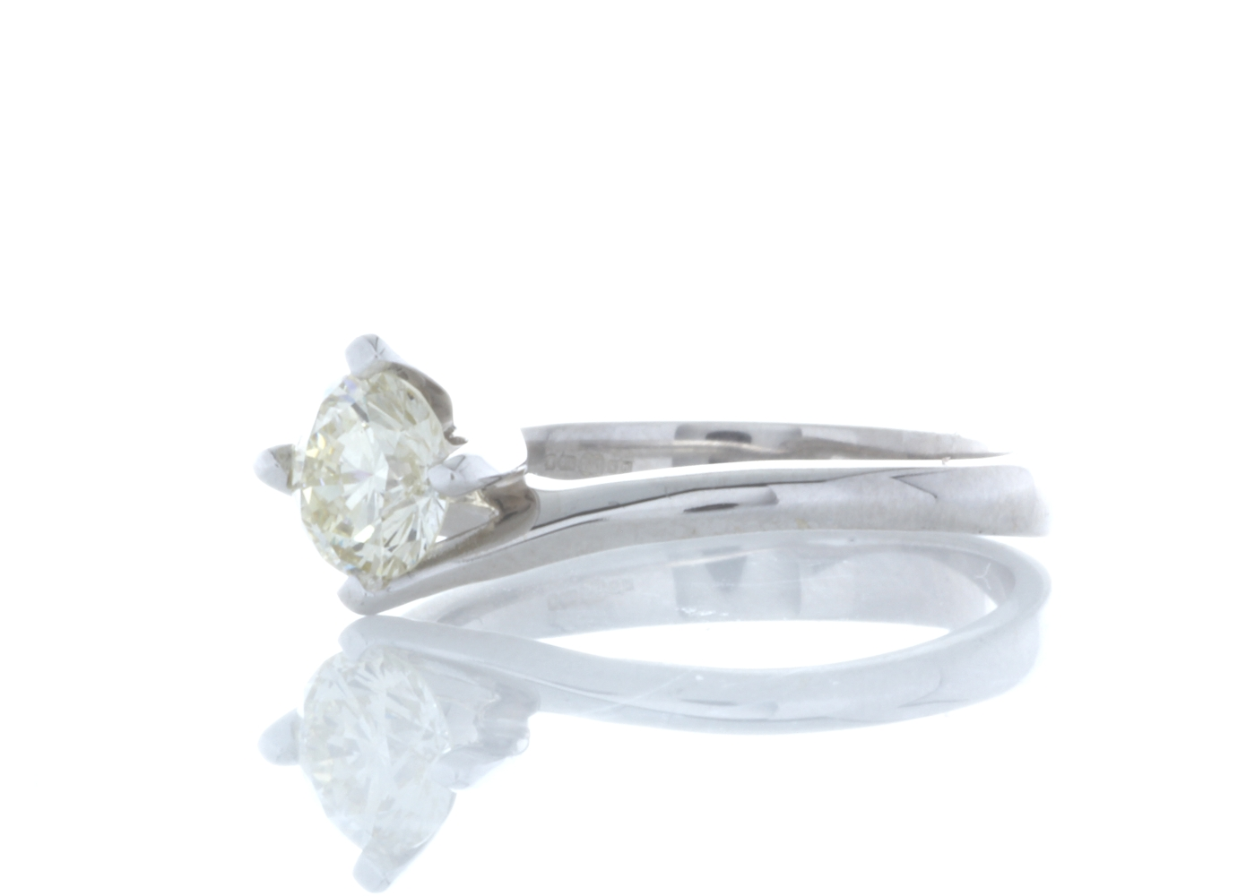18ct White Gold Single Stone Fancy Claw Set Diamond Ring 0.71 Carats - Image 2 of 5
