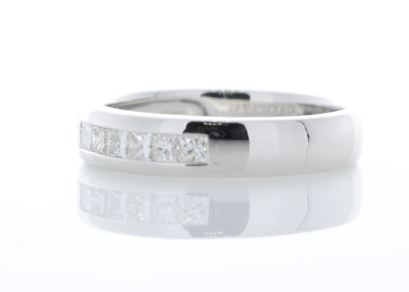 Lot 34 - 18ct White Gold Diamond Channel Set Half Eternity Ring 0.50 Carats