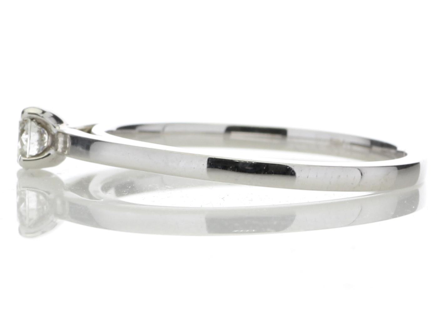 18ct White Gold Single Stone Wire Set Diamond Ring 0.20 Carats - Image 3 of 4