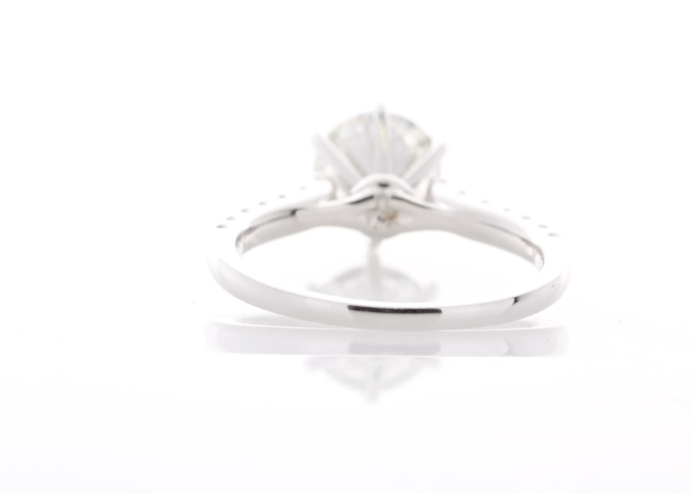Lot 23 - 18ct White Gold Single Stone Prong Set With Stone Set Shoulders Diamond Ring (1.56) 1.85 Carats