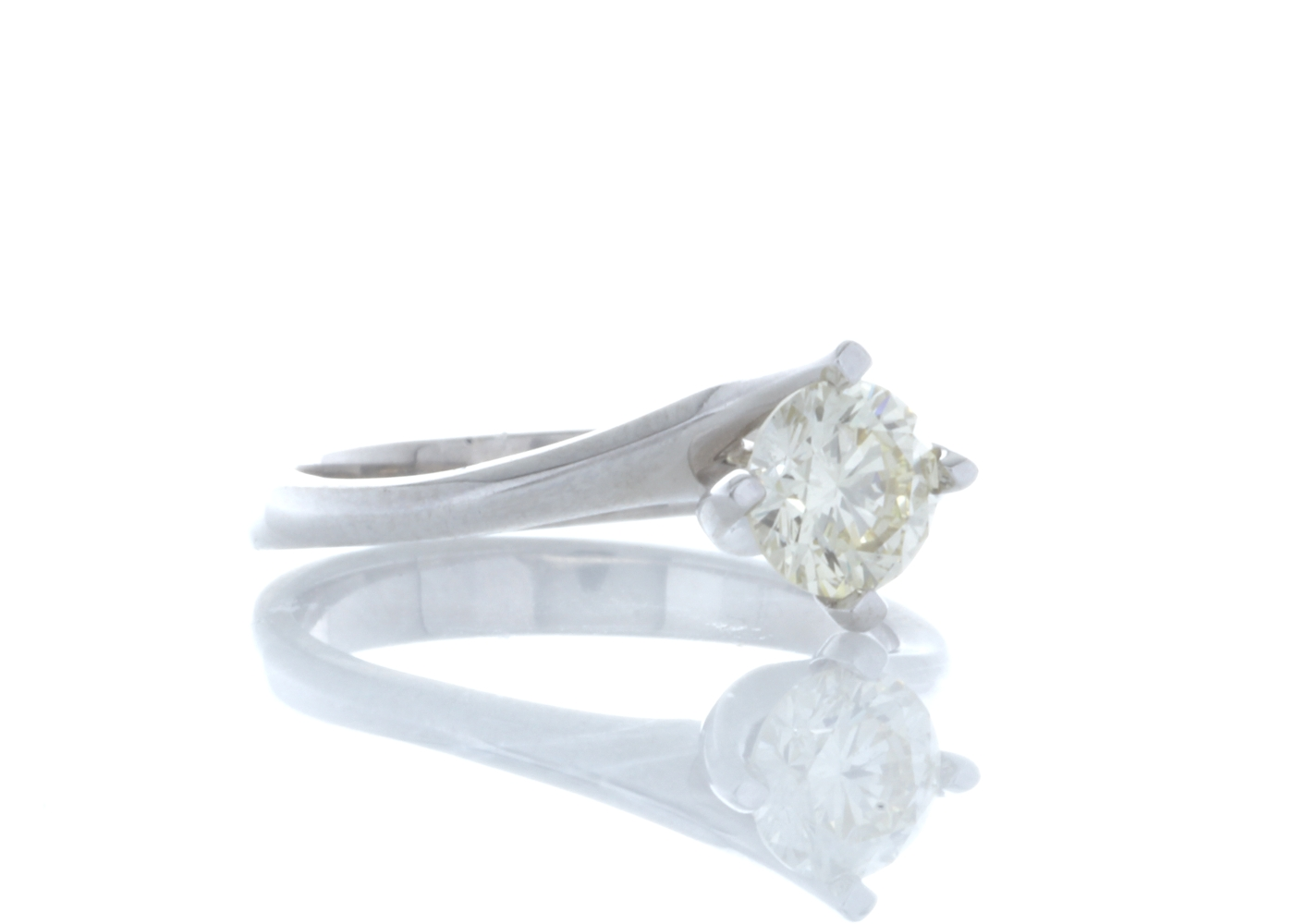 18ct White Gold Single Stone Fancy Claw Set Diamond Ring 0.71 Carats - Image 4 of 5